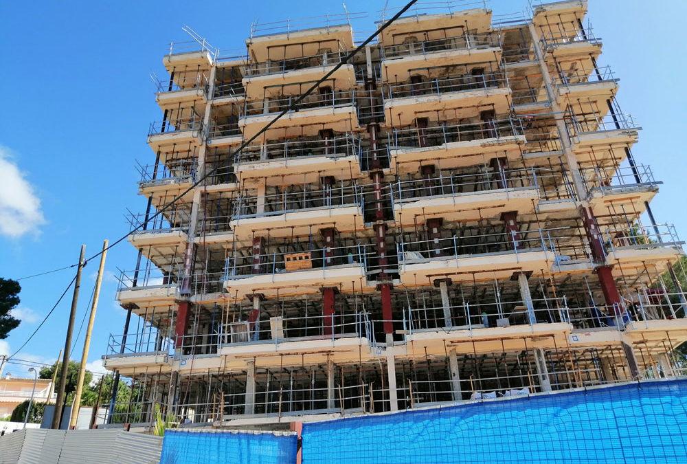 Refuerzo estructural edificio residencial. Mallorca