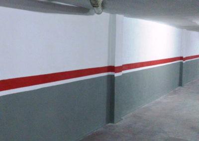 Reparación de pilares en parking vehículos