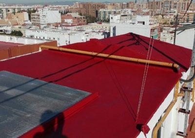 Impermeabilización de cubierta inclinada