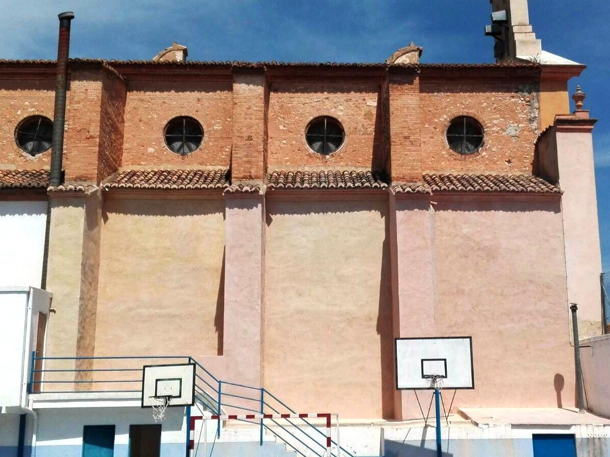 rehabilitación integral de fachada colegio con mortero de cal