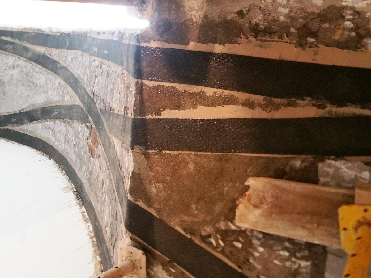 refuerzo escalera con fibra de carbono