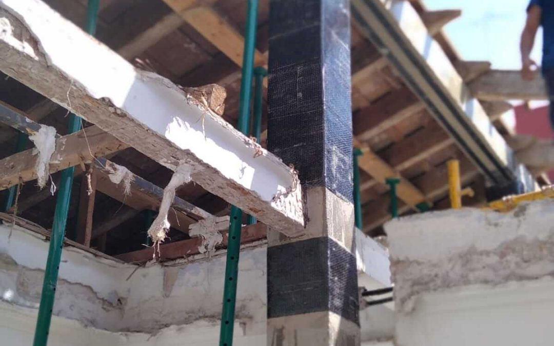 Refuerzo estructural de un pórtico de cumbrera