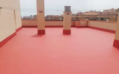Impermeabilización de terraza en edificio de viviendas